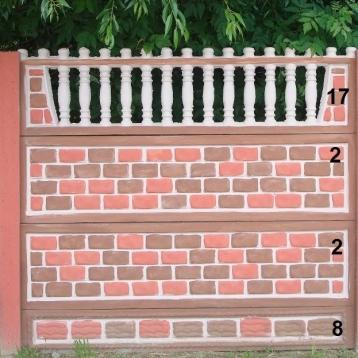 Евро бетонный забор 7
