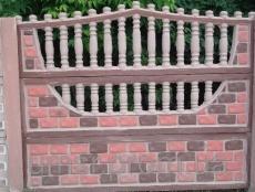 Євро бетонний паркан 8