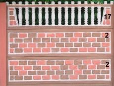 Євро бетонний паркан 7