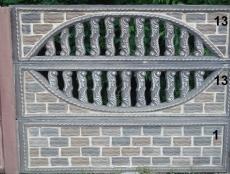 Євро бетонний паркан 9